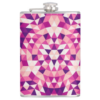 Happy triangle mandala hip flask