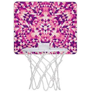 Happy triangle mandala mini basketball hoop