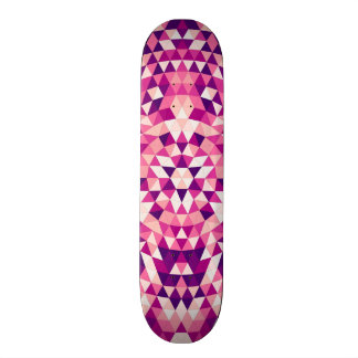 Happy triangle mandala skate board decks