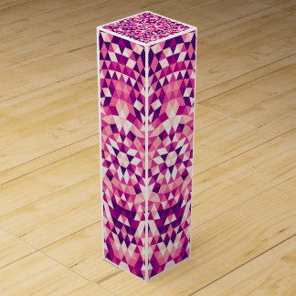 Happy triangle mandala wine box