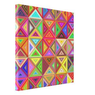 Happy triangle mosaic canvas print