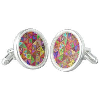 Happy triangle mosaic cuff links