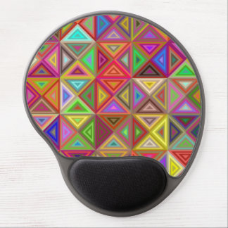 Happy triangle mosaic gel mouse pad