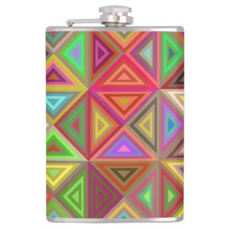 Happy triangle mosaic hip flask