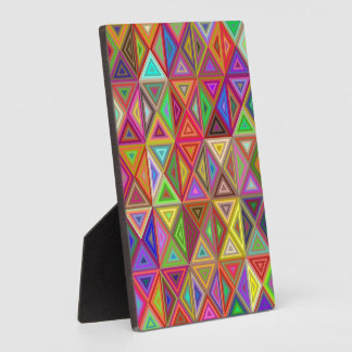 Happy triangle mosaic plaque