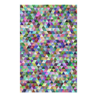 Happy triangle pattern stationery