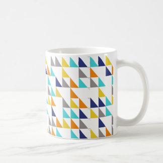 happy triangles coffee mug
