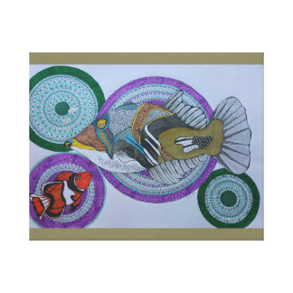 Happy trigger fish canvas