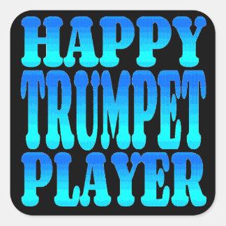 Happy Trumpet Player Sticker