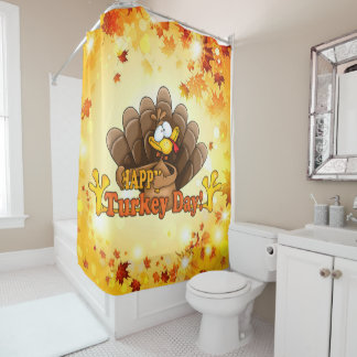 Happy Turkey Day Shower Curtain