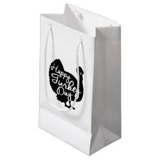 Happy Turkey Day Small Gift Bag