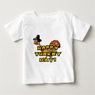 Happy Turkey Day Thanksgiving Baby T-Shirt