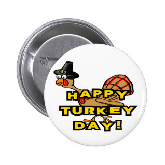 Happy Turkey Day Thanksgiving Buttons
