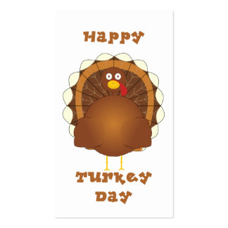 Happy Turkey day Thanksgiving Business Card