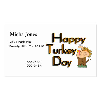 Happy Turkey Day Thanksgiving Pack Of Standard Business Cards