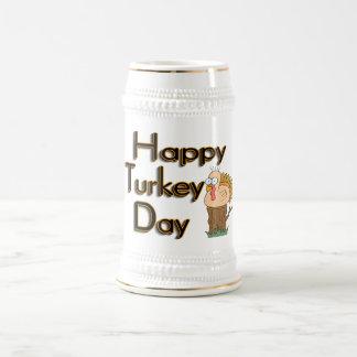 Happy Turkey Day Thanksgiving Coffee Mugs