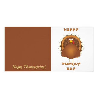 Happy Turkey day Thanksgiving Picture Card