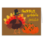 Happy Turkey & Pumpkins - Greeting Card