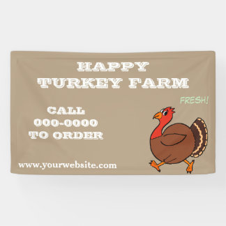 Happy Turkeys For Sale Banner