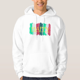 Happy Turquoise Pink Stripes Funky Hoodie