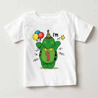 Happy Turtle 1st Birthday Baby T-Shirt