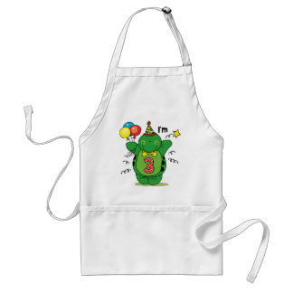 Happy Turtle 3rd Birthday Aprons