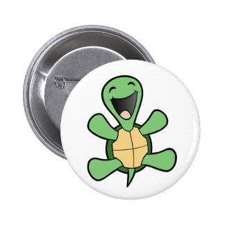 Happy Turtle 6 Cm Round Badge