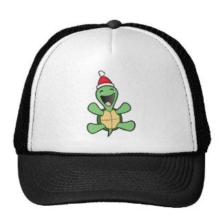 Happy Turtle Christmas Trucker Hat