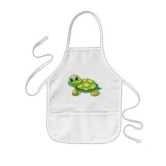 Happy turtle kids apron