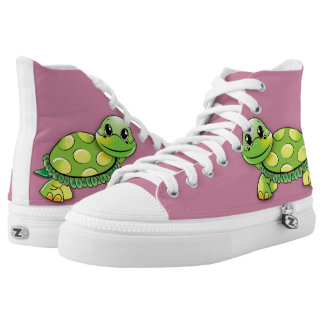 Happy turtle printed shoes