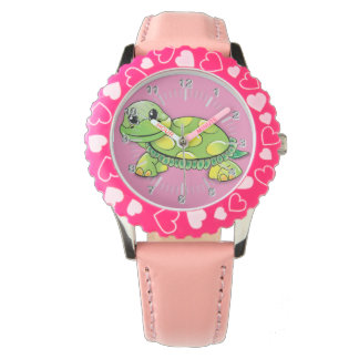 Happy turtle wrist watches