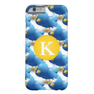 Happy Tweeting Twitter Icon w/Monogram Barely There iPhone 6 Case