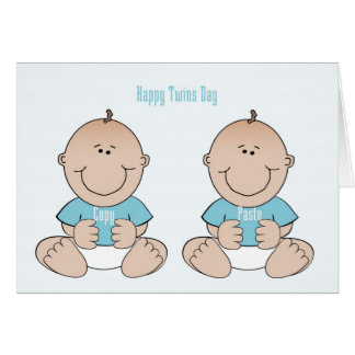 Happy Twins Day Boys Card
