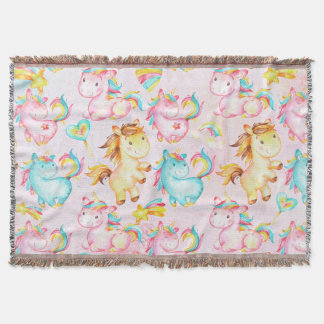 Happy Unicorns Pattern-Unicorn Love in Pink