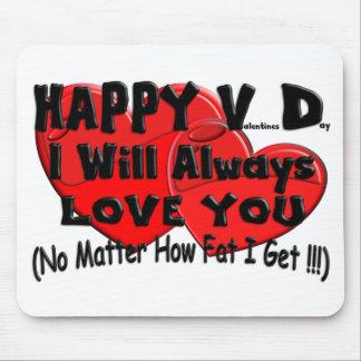 Happy V D (Fat) Mouse Pad