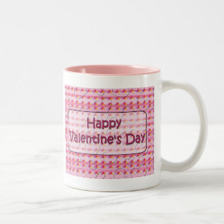 Happy Valentine's Day Two-Tone Coffee Mug