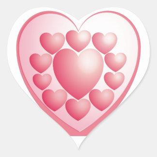 Happy Valentine Day SWEET HEART Heart Sticker