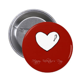 Happy Valentine s Day Cute Heart Pinback Button