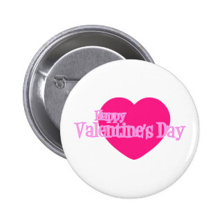 Happy Valentine s Day Giant Pink Heart Button