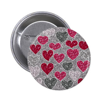 Happy Valentine s Day Glitter Love Bling Hearts Pins