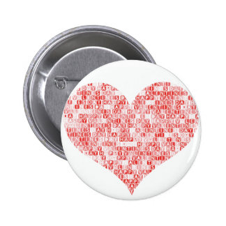 Happy Valentine s Day Heart Button