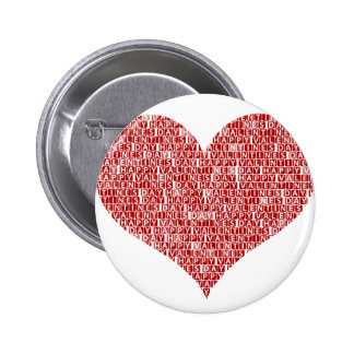 Happy valentine s day heart pins
