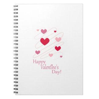 Happy Valentine s Day Hearts Spiral Notebook