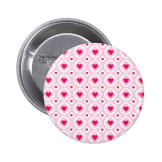Happy Valentine s Day Hearts Pattern Pink Red Pins