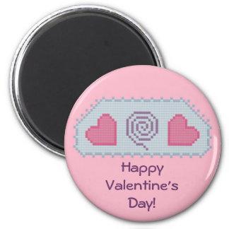 Happy Valentine s Day Hearts Spiral Magnet