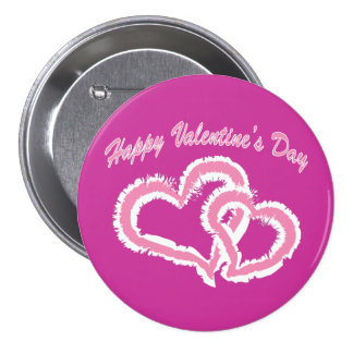 Happy Valentine s Day Kissing Hearts Button