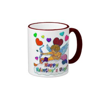 Happy Valentine s Day Ringer Coffee Mug