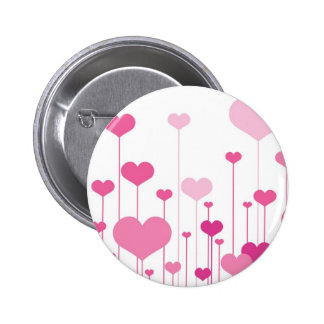 Happy Valentine s Day pink hearts Button