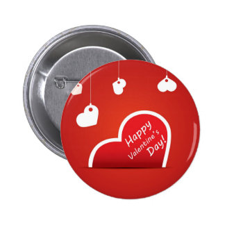 Happy Valentine s Day red heart Buttons