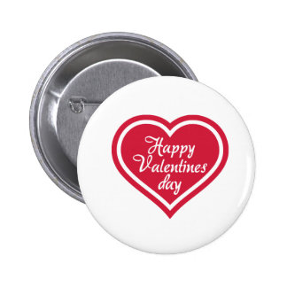 Happy Valentine s day red heart Pinback Buttons